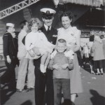 Dad met my Rosie the Riveter mother on Navy Day, 1946, in Salinas. They married one year later. I was born in 1953.