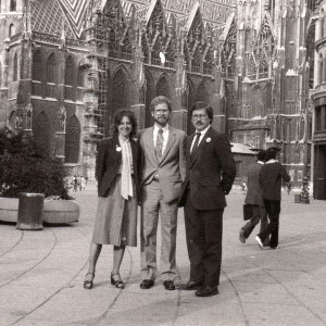 With College Republican Grover Norquist in Vienna,1982.
